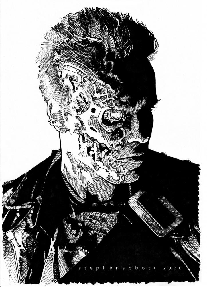 Terminator, Arnold Schwarzenegger por Stefanosart